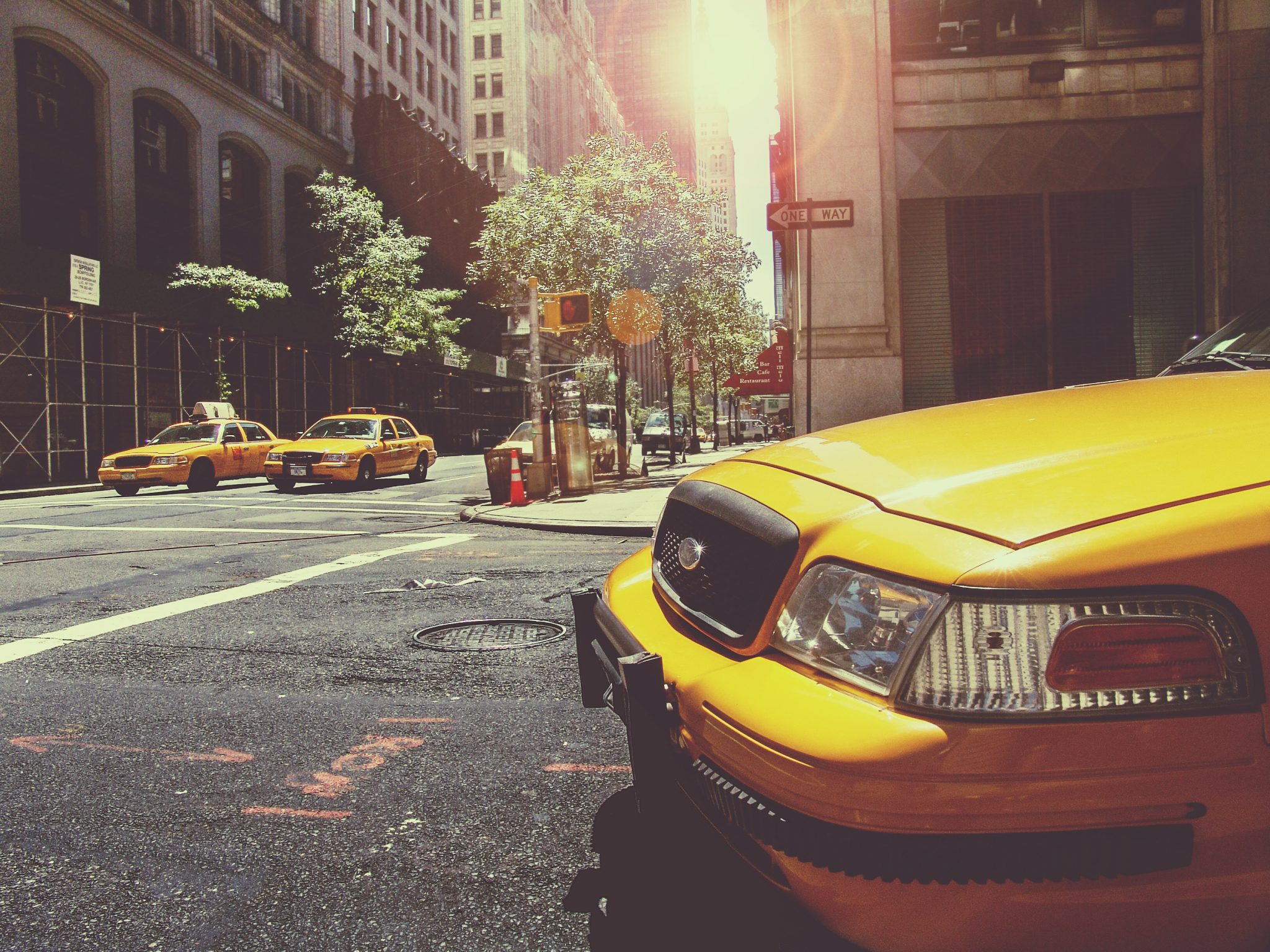 Taxi Cabs Downtown
